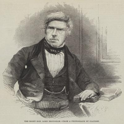 The Right Honourable Lord Brougham