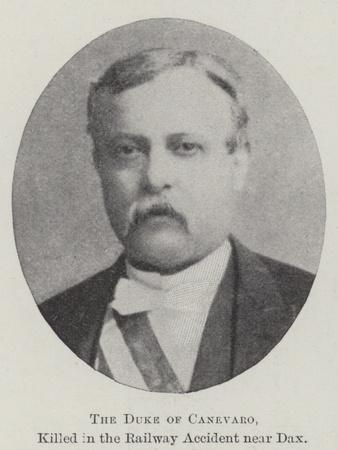 The Duke of Canevaro, Killed in the Railway Accident Near Dax