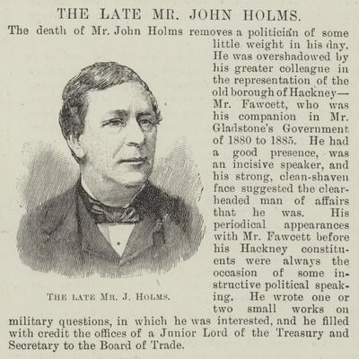 The Late Mr John Holms