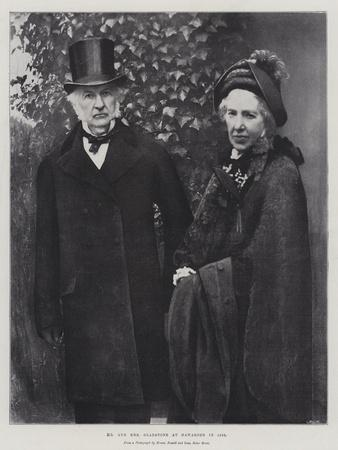 Mr and Mrs Gladstone at Hawarden in 1895