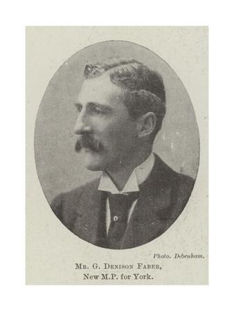 Mr G Denison Faber