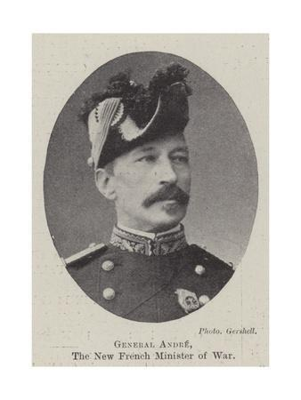 General Andre, the New French Minister of War
