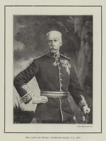The Late Sir Henry Havelock-Allan
