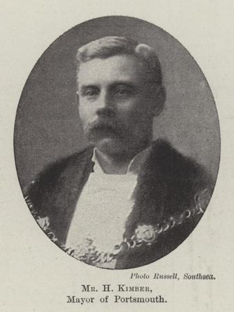 Mr H Kimber, Mayor of Portsmouth