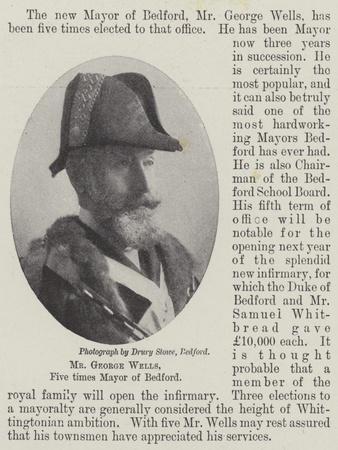 Mr George Wells, Five Times Mayor of Bedford
