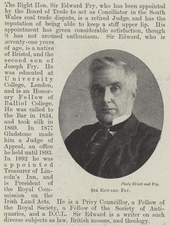 Sir Edward Fry