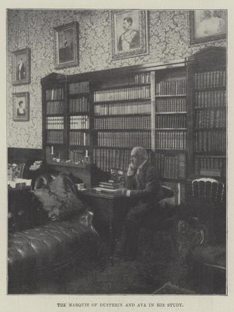 The Marquis of Dufferin and Ava in His Study