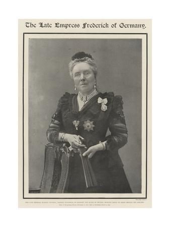 The Late Empress Frederick of Germany