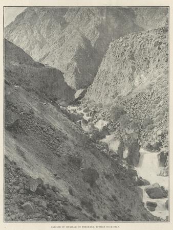 Cascade of Isfairam, in Ferghana, Russian Turkistan