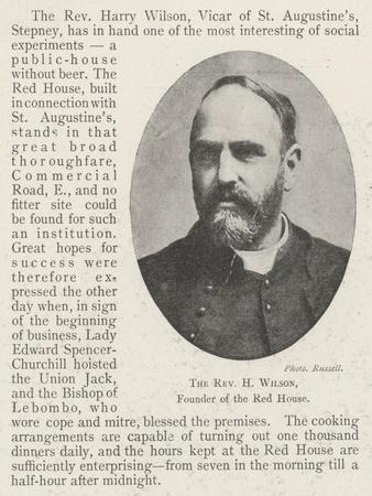 The Reverend H Wilson, Founder of the Red House