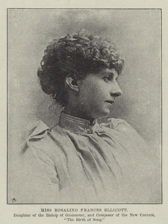 Miss Rosalind Frances Ellicott