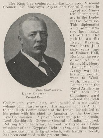 Lord Cromer, Created Earl