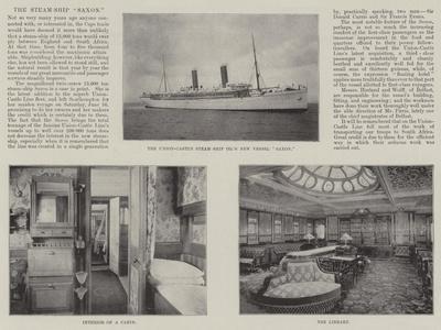 The Steam-Ship Saxon