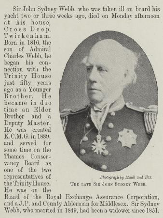 The Late Sir John Sydney Webb