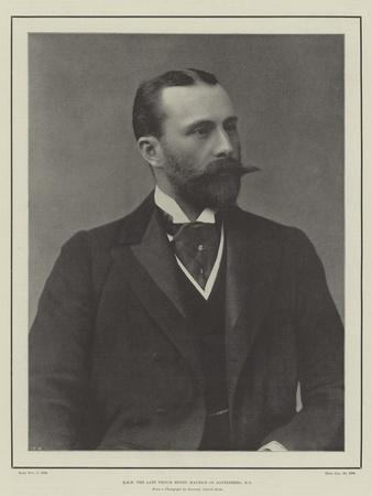 Hrh the Late Prince Henry Maurice of Battenberg
