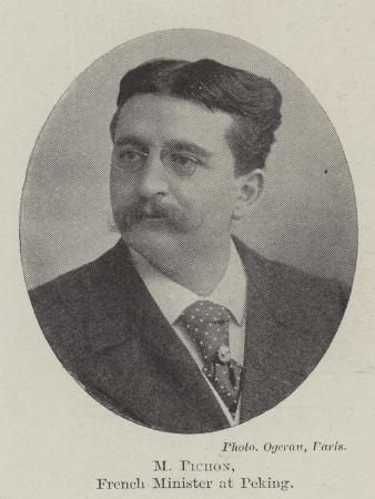 M Pichon, French Minister at Peking