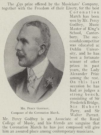 Mr Percy Godfrey, Composer of the Coronation March