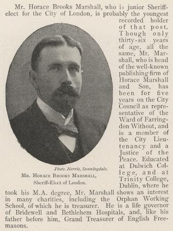 Mr Horace Brooks Marshall, Sheriff-Elect of London