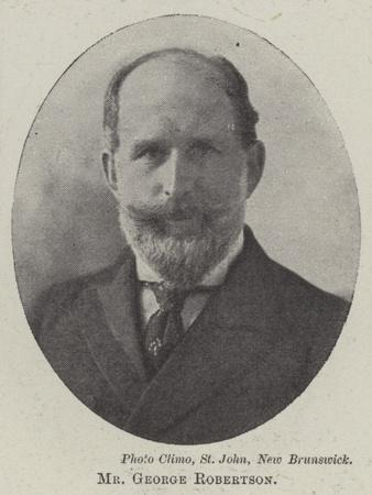 Mr George Robertson