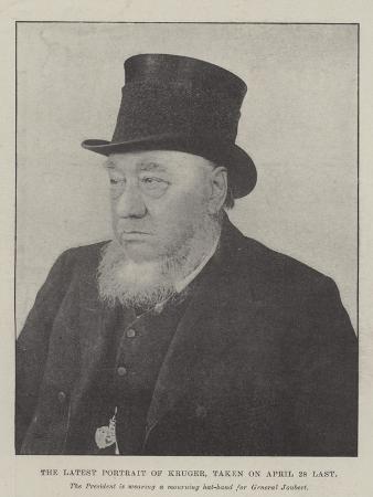 The Latest Portrait of Kruger