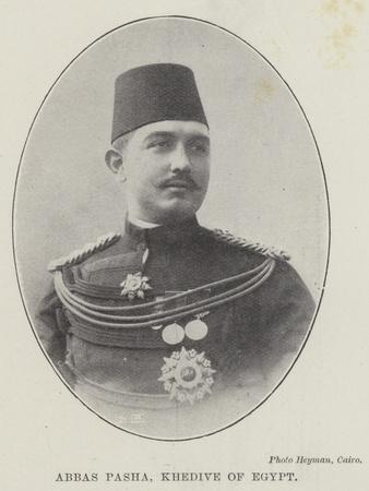 Abbas Pasha, Khedive of Egypt