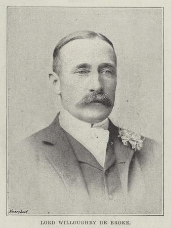 Lord Willoughby De Broke
