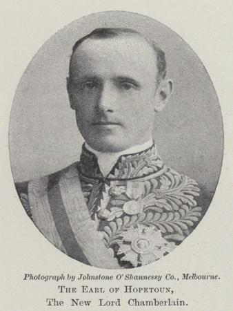 The Earl of Hopetoun, the New Lord Chamberlain