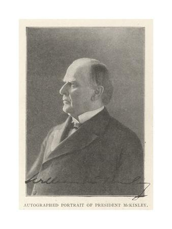 Autographed Portrait of President Mckinley