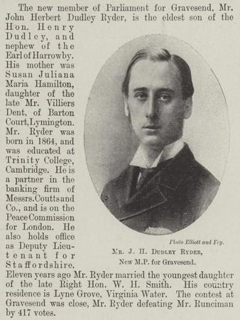 Mr J H Dudley Ryder