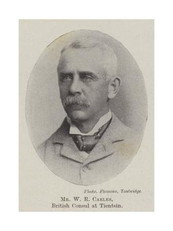 Mr W R Carles, British Consul at Tientsin