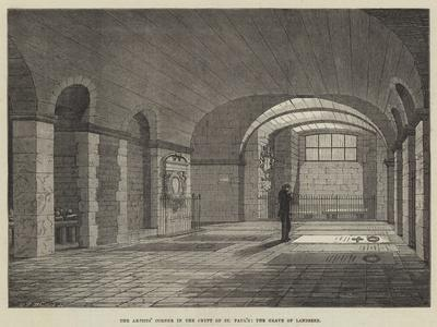 The Artists' Corner in the Crypt of St Paul's, the Grave of Landseer