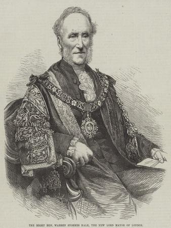 The Right Honourable Warren Stormes Hale, the New Lord Mayor of London