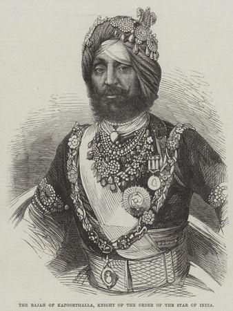 The Rajah of Kapoorthalla, Knight of the Order of the Star of India