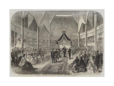 Opening of the Italian Exposition at Florence by Victor Emmanuel