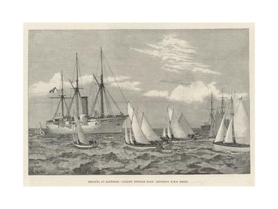 Regatta at Zanzibar, Sailing Pinnace Race, Rounding HMS Brisk