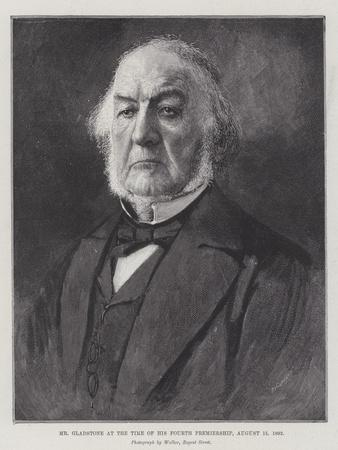 Mr Gladstone at the Time of His Fourth Premiership, 15 August 1892