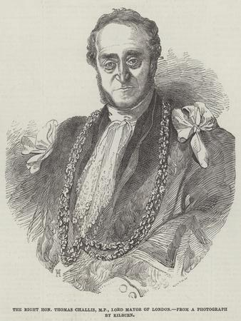 The Right Honourable Thomas Challis, Mp, Lord Mayor of London
