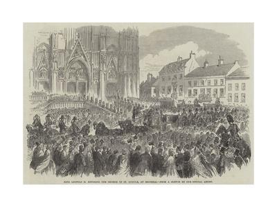 King Leopold II Entering the Church of St Gudule, at Brussels