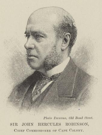 Sir John Hercules Robinson, Chief Commissioner of Cape Colony
