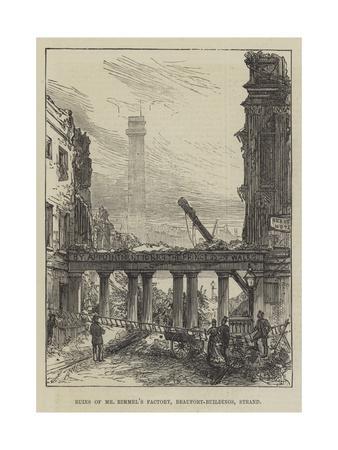 Ruins of Mr Rimmel's Factory, Beaufort-Buildings, Strand