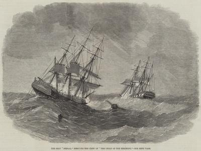 The Ship Bengal Rescuing the Crew of The Child of the Regiment