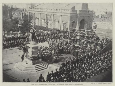 The Duke of Bedford Unveiling a Statue of John Howard at Bedford