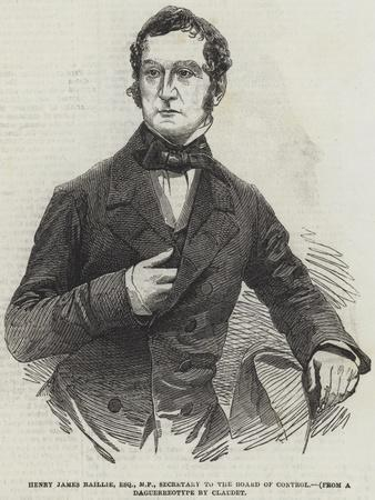 Henry James Baillie, Esquire, Mp, Secretary to the Board of Control