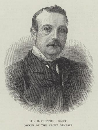 Sir R Sutton, Baronet, Owner of the Yacht Genesta