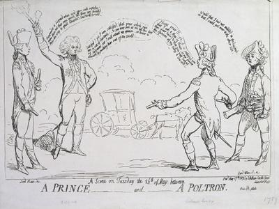 A Prince and a Poltron, Published by J. Aitken in 1789