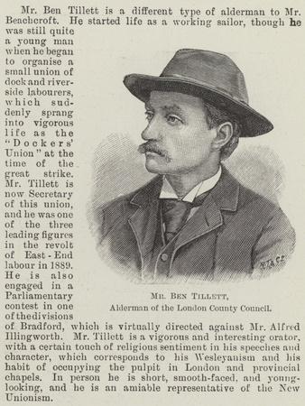 Mr Ben Tillett, Alderman of the London County Council