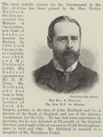 The Honourable E Hubbard, the New Mp for Brixton