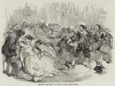 Scene from 'La Traviata' at Her Majesty's Theatre, 1856