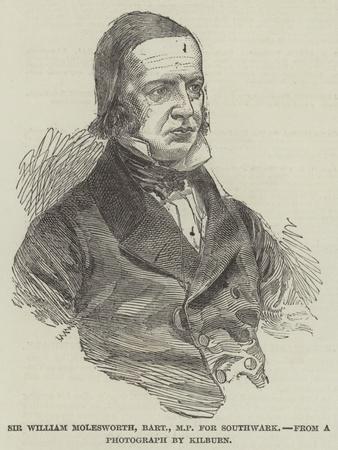 Sir William Molesworth, Baronet, Mp for Southwark