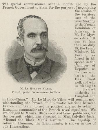 M Le Myre De Vilers, French Special Commissioner to Siam
